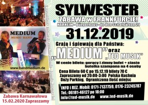Zabawa  Sylwestrowa – Frankfurt  am  Main – 31.12.2019